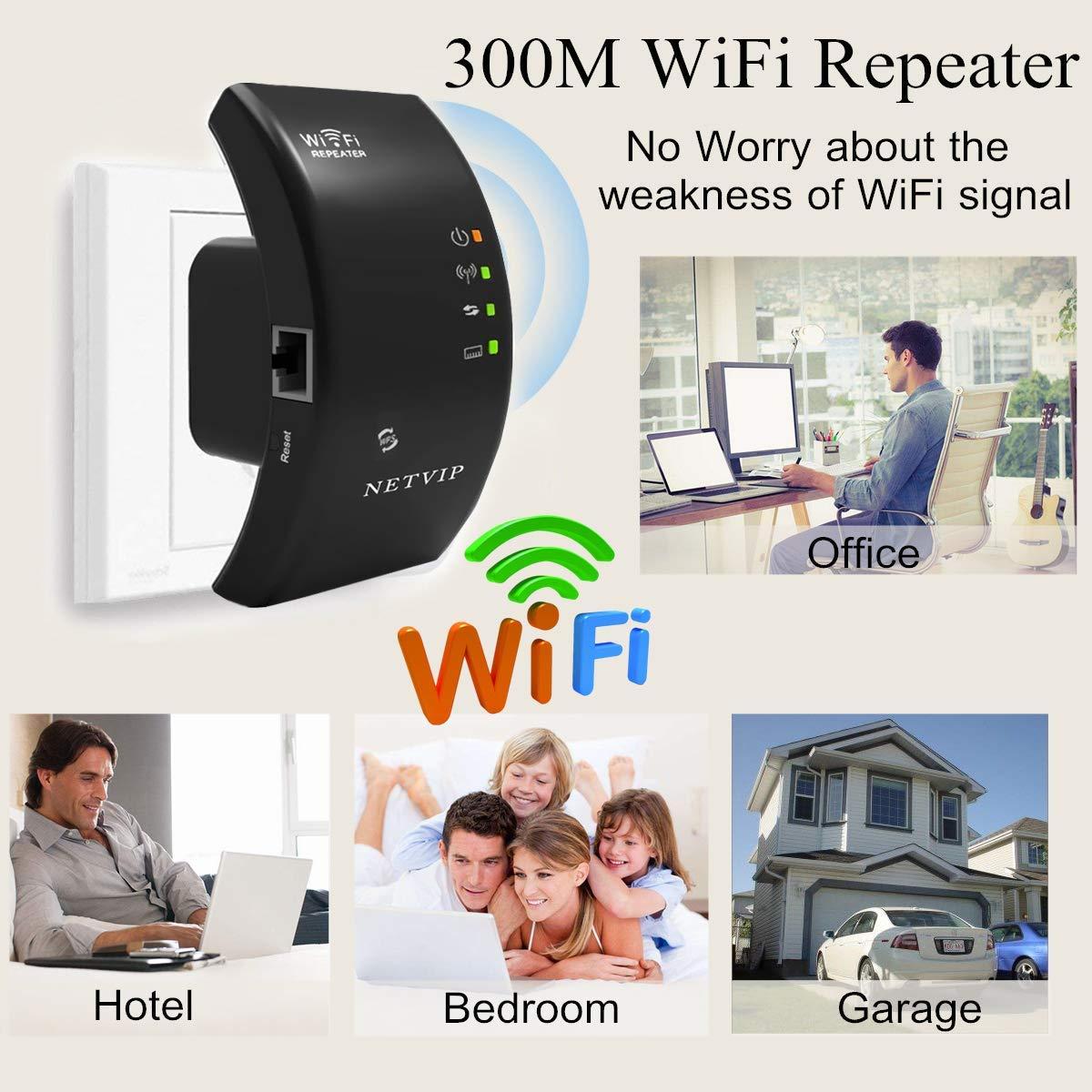 NETVIP Booster WiFi Puissant sans Fil N300