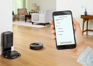 Aspirateur robot connecté Roomba vu à la télé