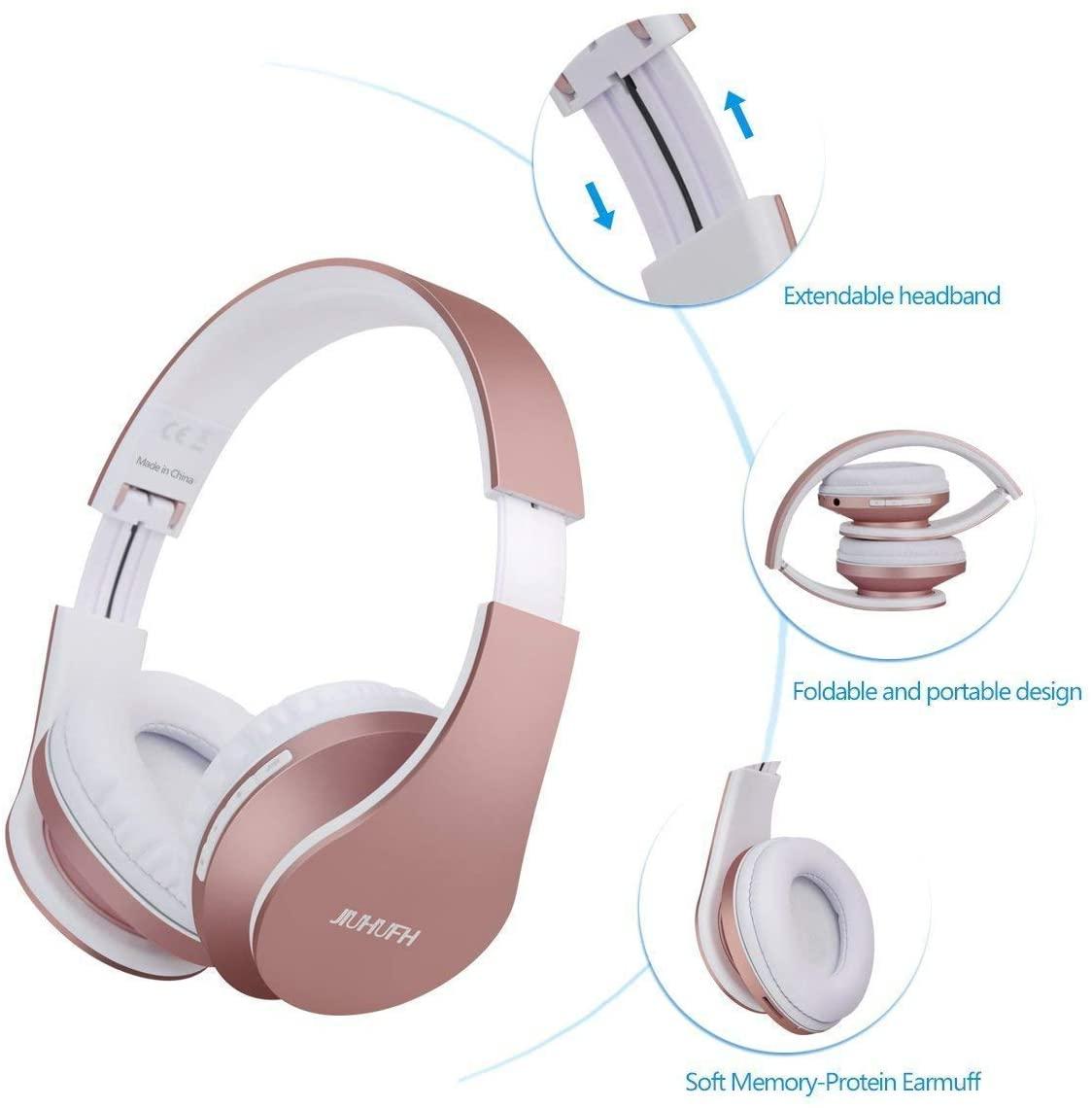 JIUHUFH Casque Bluetooth sans Fil Pliable