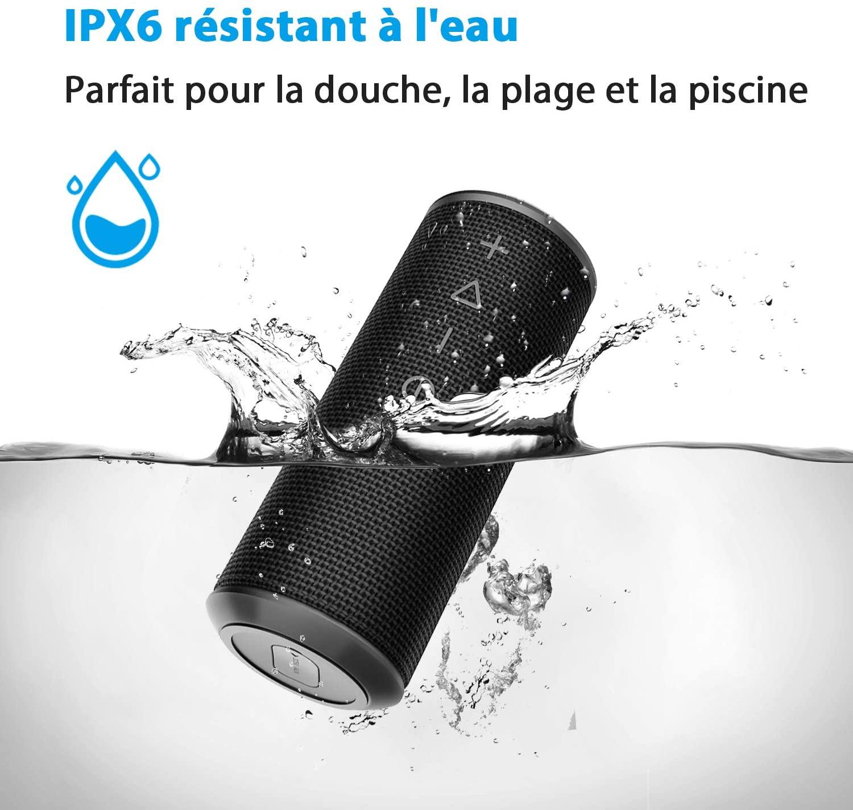 Zamkol Enceinte Bluetooth Portable 24W Waterproof Haut-Parleur Bluetooth Enceinte
