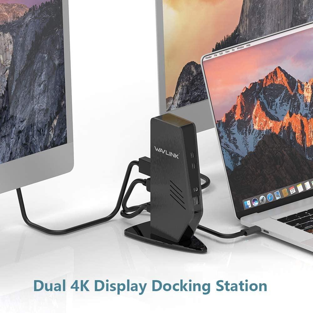 WAVLINK Station d'accueil universelle pour ordinateur portable Dual 4K